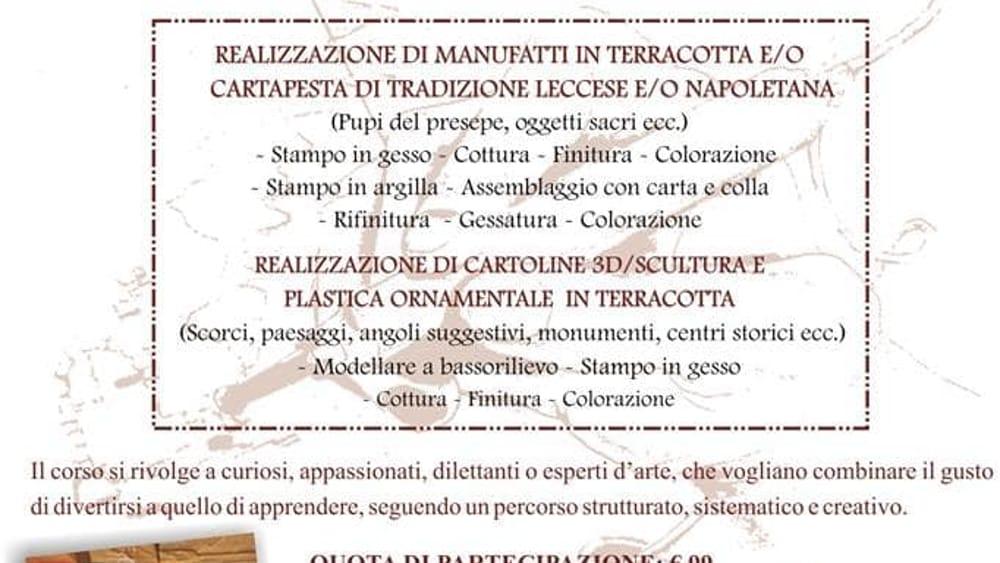 Corso Artigianato Artistico.Laboratori Di Artigianato Artistico Al Museo Eventi A Lecce